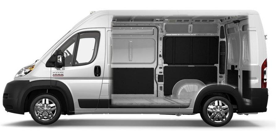 2017 RAM Promaster Van Interior