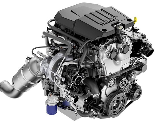4-cylinder turbocarged diesel engine 2.7L