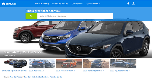 Edmunds - Best Site for Used Cars