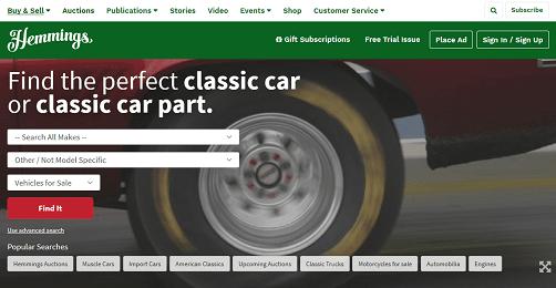 Hemmings - Best Car Shopping Site