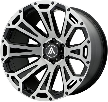 Asanti Off-Road AB813 Cleaver Black Brushed Wheels