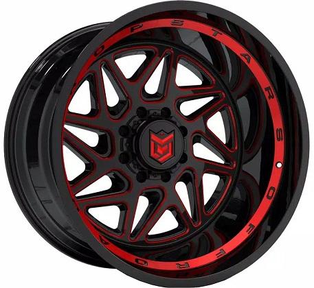 Dropstars Black and Red 657 Rims