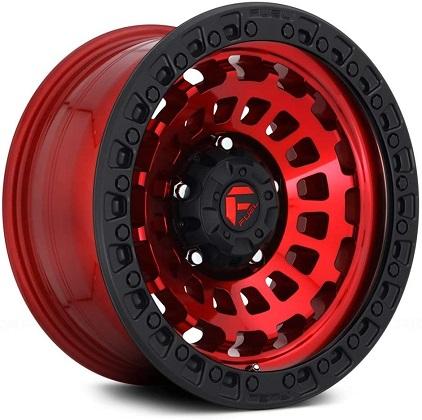 Fuel Red Zephyr Beadlock Rims