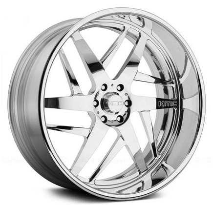 KMC KM678 Splinter Chrome Wheels