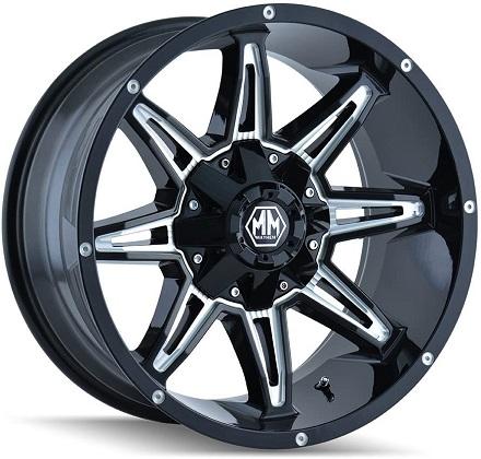 Mayhem Rampage 8090 Black Wheels