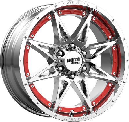 Moto Metal Hydra Chrome Red Wheels MO993