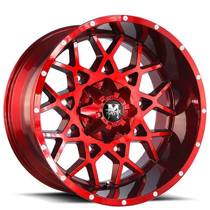 Off-Road Monster Red M14 Rims