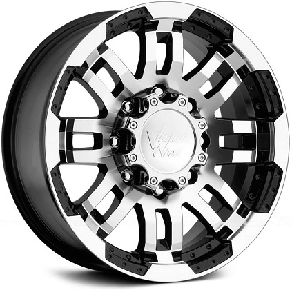 Vision Warrior Black Machined Face Wheel