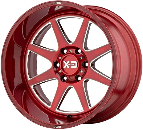 XD Series Milled Brushed Red XD844 Pike Rims