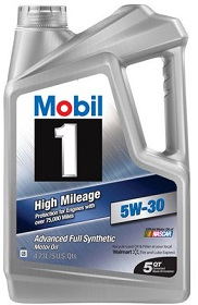 Mobil 1 (120769) High Mileage 5W-30 Synthetic Oil