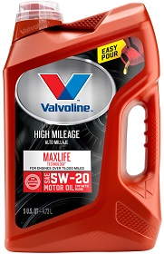 Valvoline MaxLife High Mileage 5W-20 Synthetic Blend Motor Oil - Best Synthetic Oil 5W20
