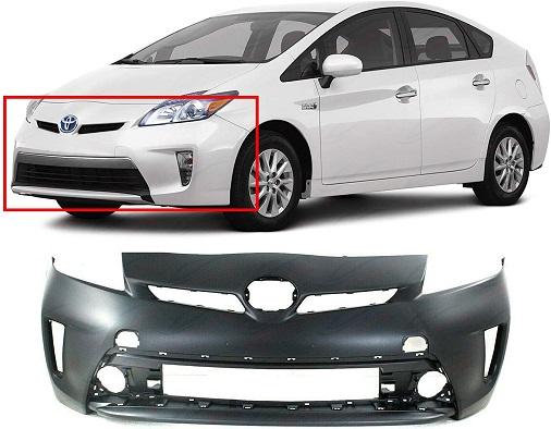 Front Plastic Bumper Cover Fascia For 2012-2015 Toyota Prius