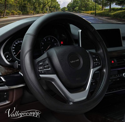 Valleycomfy Microfiber Leather Steering Wheel Cover