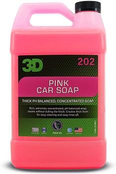 3D Pink Car Wash Soap